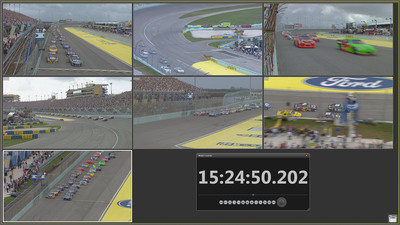 Telestream HD instant replay system developed for NASCAR race control officials utilizes Pipeline HD video capture and new Replay multichannel video player to enable instant race analysis.  (PRNewsFoto/Telestream)