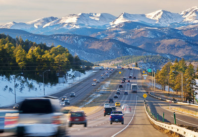 Driving into the Rocky Mountains from Denver. Photo credit VISIT DENVER.