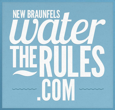 A new website, www.watertherules.com includes a map with useful locations marked, all the regulations concerning what containers and flotation devices can be used on the river and other useful river information to encourage visitors to dispose of trash properly and take care of the Guadalupe and Comal rivers within the city limits of New Braunfels, Texas.