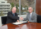 Statoil signs research agreement with NASA:  From left: Lars Hoier, senior vice president, research, development and innovation, Statoil; NASA Jet Propulsion Laboratory Director Dr. Charles Elachi.   Photo credit is NASA/JPL-Caltech.  (PRNewsFoto/Statoil)