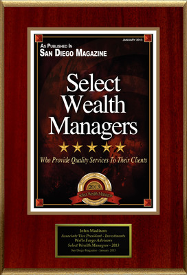 "John Madison Selected For ""Select Wealth Managers"".  (PRNewsFoto/American Registry)"