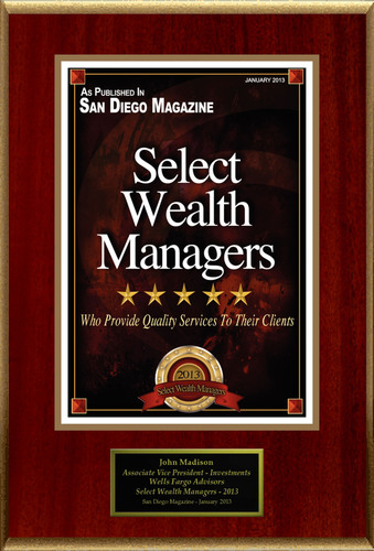 """John Madison Selected For """"Select Wealth Managers"""".  (PRNewsFoto/American Registry)"""