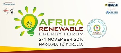Africa Renewable Energy Forum, side event COP22, 2-4 November, Marrakesh (PRNewsFoto/EnergyNet)