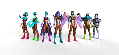 The complete lineup of IAmElemental's seven Series 2/Wisdom figures: Creativity, Ingenuity, Curiosity, Logic, Exploration, Mastery & Oblivion, now available for pre-order at www.IAmElemental.com