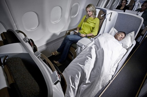 South African Airways Airbus A330-200 Business Class Cabin (PRNewsFoto/South African Airways)