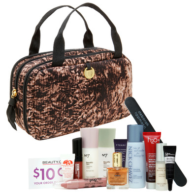 Beauty.com Debuts The Ava Bag in Tigermilk Print as Gift with Purchase This Holiday Season. (PRNewsFoto/Beauty.com) (PRNewsFoto/BEAUTY.COM)