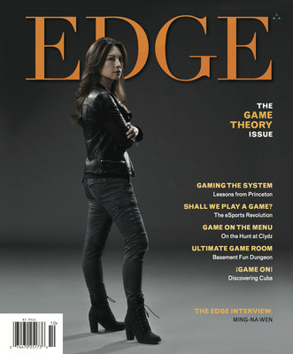 Shall We Play A Game? Ming-Na Wen Revisits Her Days as a Video Arcade 'Geek' -- Marvel Agents of S.H.I.E.L.D. star graces the cover of EDGE Magazine's 'Game Theory' Issue. EDGE Magazine published by Trinitas Regional Medical Center reaching over 300,000 readers in New Jersey. For more information contact Doug Harris (908) 994-5138 EdgeMagOnline.com.