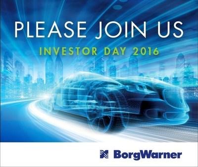BorgWarner To Host Investor Day On Sept. 7