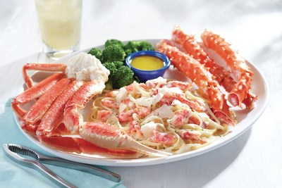 Red Lobster's NEW! Crab Lover's Dream(TM) features wild-caught North American snow crab and king crab legs alongside creamy crab linguini Alfredo.