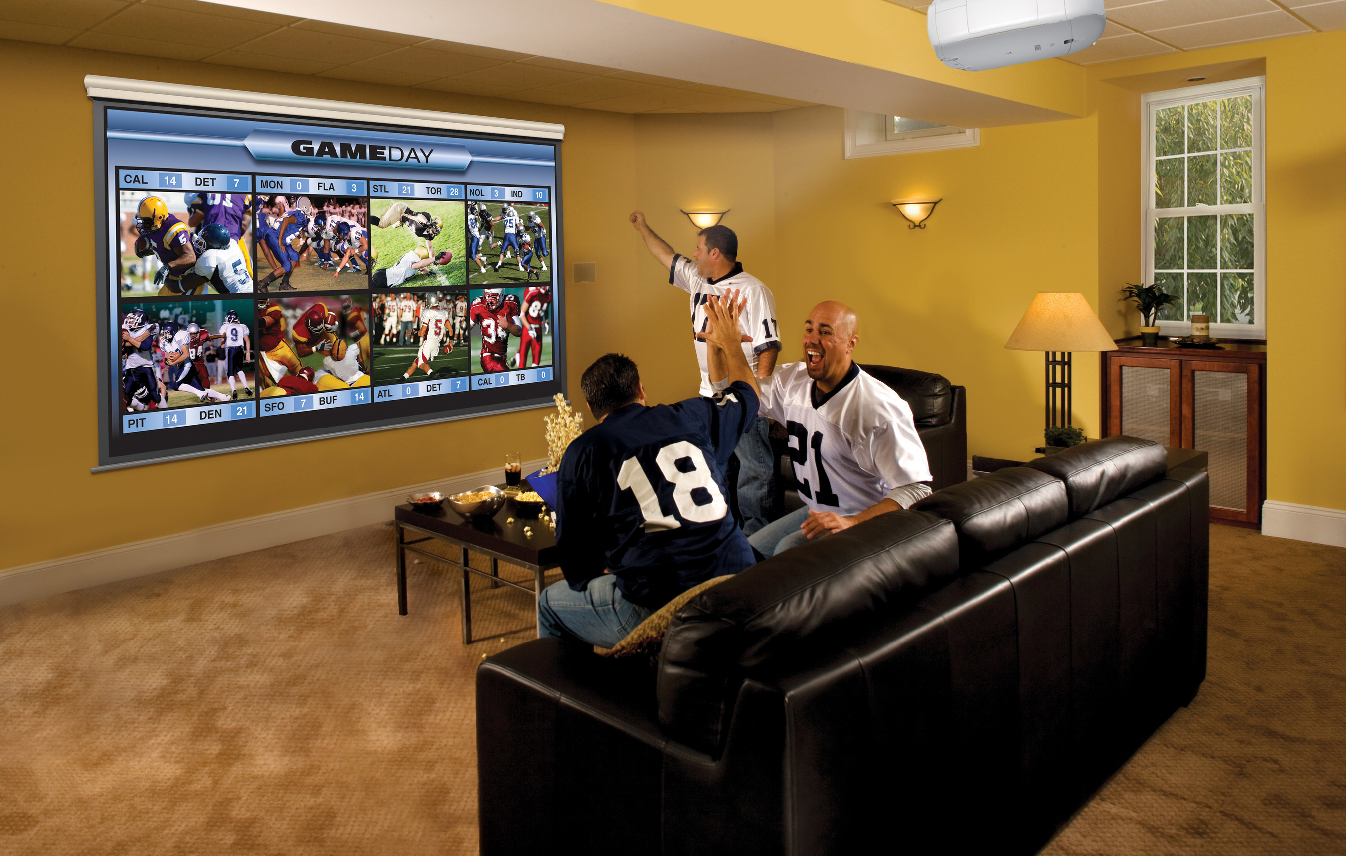Experience the Big Game with ultra-bright big screen entertainment with the Epson Home Cinema 1440