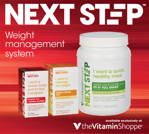 The Vitamin Shoppe(R) introduces Next Step(TM), a new weight management line that can be personalized to wherever an individual is on their health and wellness journey. (PRNewsFoto/The Vitamin Shoppe) (PRNewsFoto/THE VITAMIN SHOPPE)