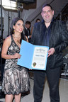 Scorpion Computer Services, Inc. founder and CEO Walter O'Brien with Samira Kazemeni at City of Los Angeles red carpet and award-banquet ceremony.