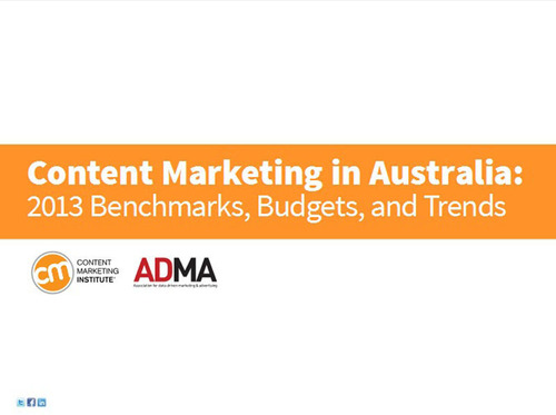Content Marketing in Australia: 2013 Benchmarks, Budgets, and Trends [Research Report].  (PRNewsFoto/Content Marketing Institute)