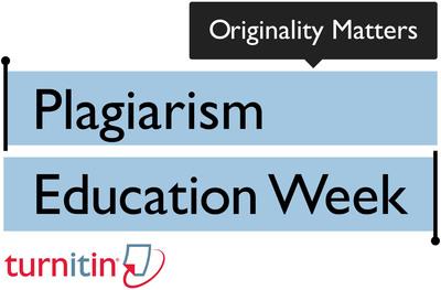 """Originality Matters"" during Plagiarism Education Week Sponsored by Turnitin.  (PRNewsFoto/Turnitin)"