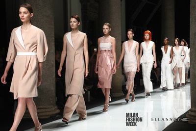 ELLASSAY launches 2017 Spring/Summer collections on the Palazzo del Senato's official main runway