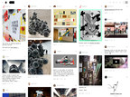 The new Ello V2 full-screen Noise Stream view, featuring wall to wall navigation, and a fluid grid. Visit http://ello.co.