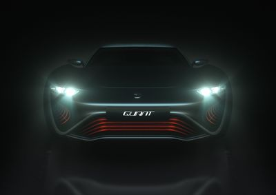 nanoFLOWCELL AG is to stage a world premiere as part of the Geneva International Motor Show 2014: the QUANT e-Sportlimousine – the first car equipped with nanoFLOWCELL® drive. QUANT e-Sportlimousine front. (PRNewsFoto/nanoFLOWCELL AG)