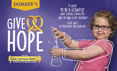 One Sweet Day! Auntie Anne's(R) to Donate a Portion of All Lemonade Sales on National Lemonade Day to Fund Childhood Cancer Research