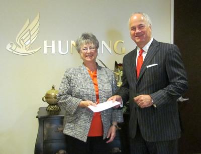 Hunting PLC Donates $125,000 To New Danville.  (PRNewsFoto/Hunting PLC)