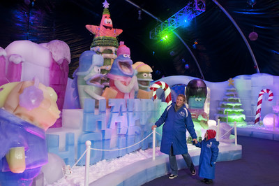 Moody Garden announced the theme for the 2015 ICE LAND: Ice Sculptures with SpongeBob SquarePants will be a SpongeBob Christmas Party when it opens November 14