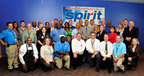 Houston Airport System employees celebrate the launch of new air service by Spirit Airlines with non-stop flights between Houston's George Bush Intercontinental Airport and Dallas/Fort Worth International Airport.  (PRNewsFoto/Houston Airport System)