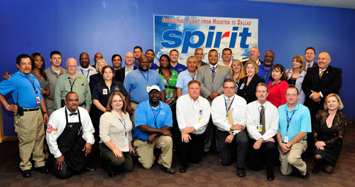 Spirit Airlines Starts Ultra Low Fare Service Between Houston and Dallas/Fort Worth