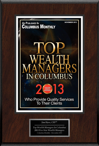 "Jim Hyre, CFP(R) Selected For ""Top Wealth Managers In Columbus"".  (PRNewsFoto/American Registry)"