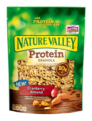 Nature Valley Protein Granola makes it easier to enjoy the taste of Nature Valley anytime, anywhere, in a loose, bagged granola with energy from whole grain to keep you going.   (PRNewsFoto/Nature Valley)