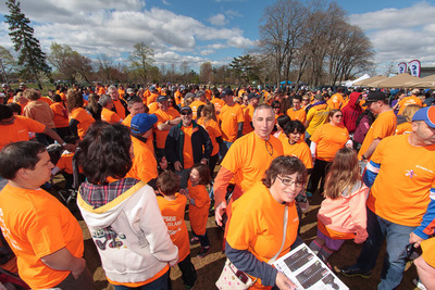 STEPPING OUT--PSEG Long Island employees come out in force to walk together with March of Dimes for stronger, healthier babies at Eisenhower Park, East Meadow. (PRNewsFoto/PSEG Long Island)
