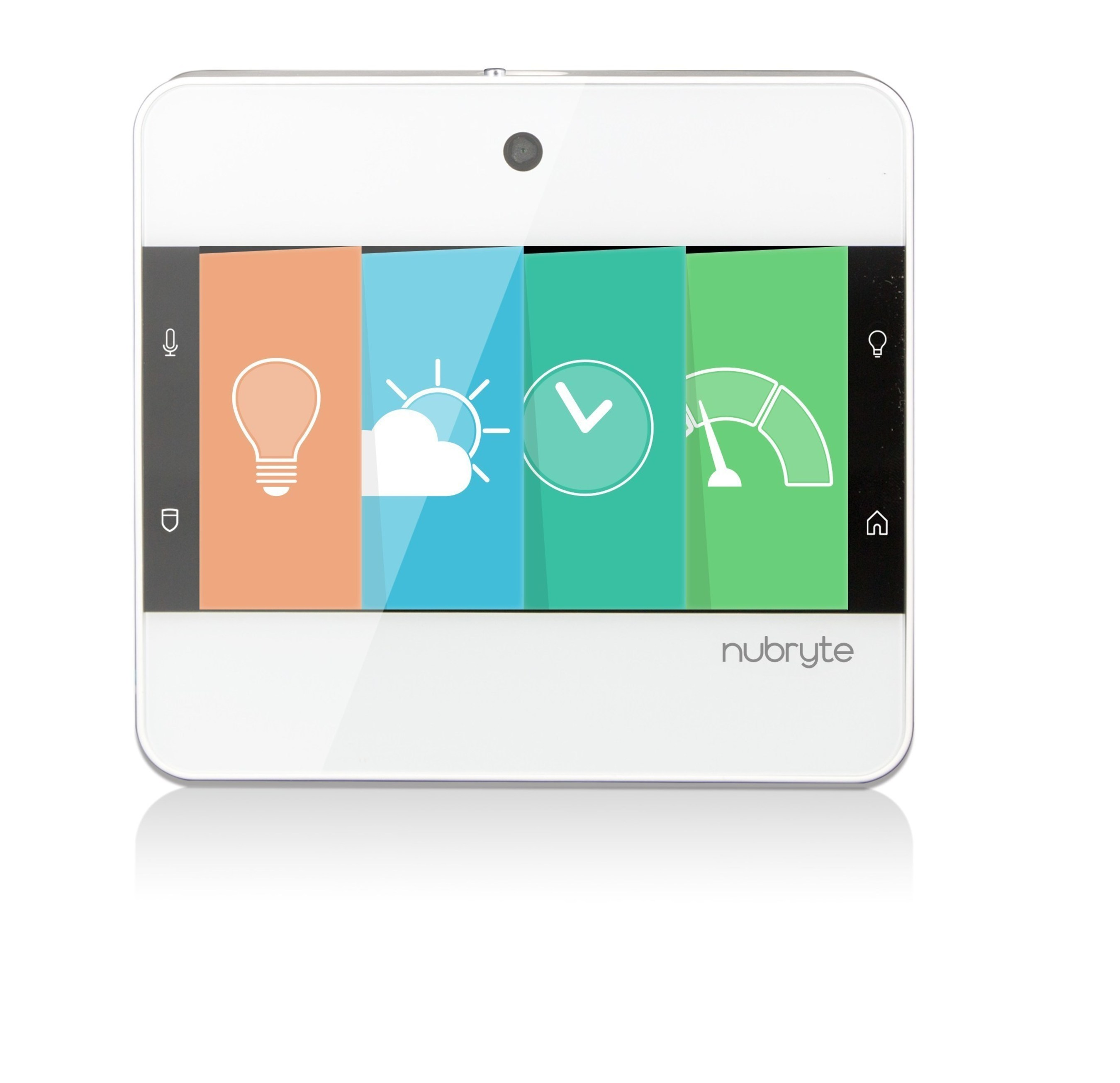 """Say goodbye to """"gadget clutter"""". NuBryte Touchpoint is a compact, all-in-one smart security and home automation solution - everything you need, right at the light switch."""