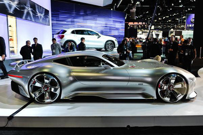 See the Mercedes-Benz AMG Vision Gran Turismo Concept at the 2014 Chicago Auto Show.  (PRNewsFoto/Loeber Motors)