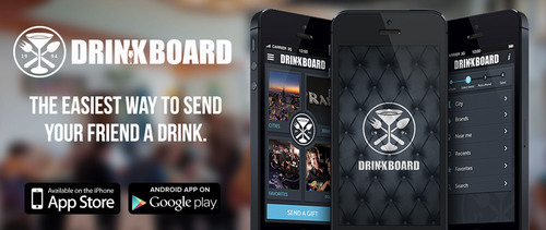 DRINKBOARD, the easiest way to buy a friend a drink or bite to eat and say Thanks, this round is on me.  (PRNewsFoto/Giftboard Inc)