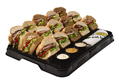 New SUBWAY(R) Catering Trays Made From 95% Post-Consumer Recycled Materials.  (PRNewsFoto/SUBWAY Restaurants)