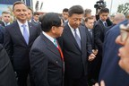 TCL Chariman Li talks with Chinese President Xi on site