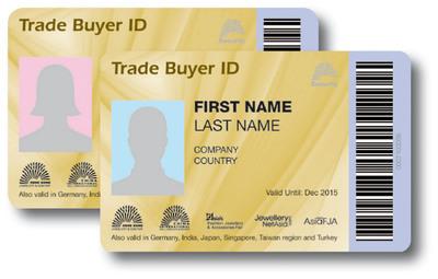 Sample Card of Trade Buyer ID.  (PRNewsFoto/UBM Asia Ltd)