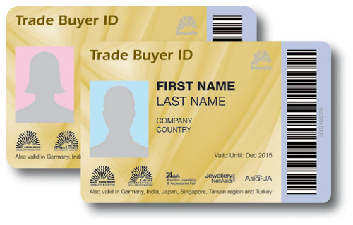 Sample Card of Trade Buyer ID.  (PRNewsFoto/UBM Asia Ltd)