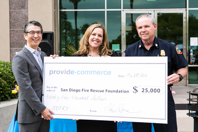 Provide Commerce, Inc., Parent Company to ProFlowers, Donates $25,000 to the San Diego Fire Rescue Foundation (PRNewsFoto/Provide Commerce)