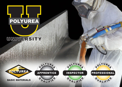 Polyurea training classes combine to achieve up to four (4) certified polyurea training degrees for sales, spray application or inspection qualifications.  (PRNewsFoto/VersaFlex Incorporated)