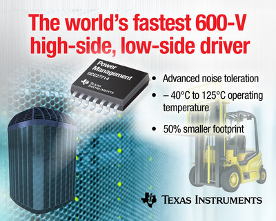Industry's fastest 600-V gate driver from TI enables higher power density in server and industrial power