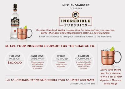 "RUSSIAN STANDARD Vodka Presents ""Incredible Pursuits.""  (PRNewsFoto/Russian Standard Vodka)"