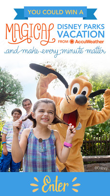 AccuWeather Every Minute Matters Sweepstakes with Chance to Win a Magical Disney Parks Vacation