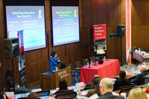 Rutgers MBA students gain real-world context on pharmaceutical industry issues at annual healthcare symposium. (PRNewsFoto/Rutgers Business School)