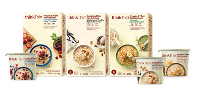 thinkThin Expands into New Category,  Launching Protein & Fiber Hot Oatmeal