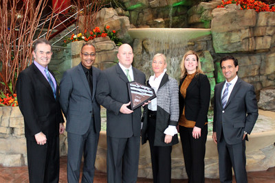 From left to right: Glenn Smith, President  & CEO of AAA North Penn; Vincent Jordan, Vice President of Marketing & Player Development; Matthew Magda, Vice President of Resort Operations; Lisa DeNaples, Owner & Managing Trustee; Nina Waskevich, Director of Marketing & Public Relations; John Culetsu, Executive Vice President & General Manager