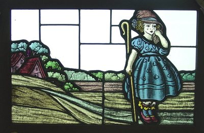 Visitors to the St. Vincent and Sarah Fisher Center 'Windows of Opportunity' exhibit at the Detroit Historical Museum can enter a drawing to win an authentic reproduction of the Little Bo Peep stained glass window, first created in 1929.