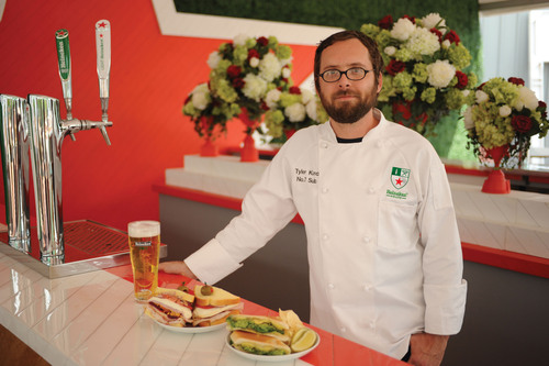 The Heineken House introduces exclusive menu items created by Chef Tyler Kord of No. 7 Sub in New York at the 2013 US Open.  (PRNewsFoto/HEINEKEN USA Inc.)