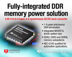 Introducing industry's first fully integrated DDR memory power solution