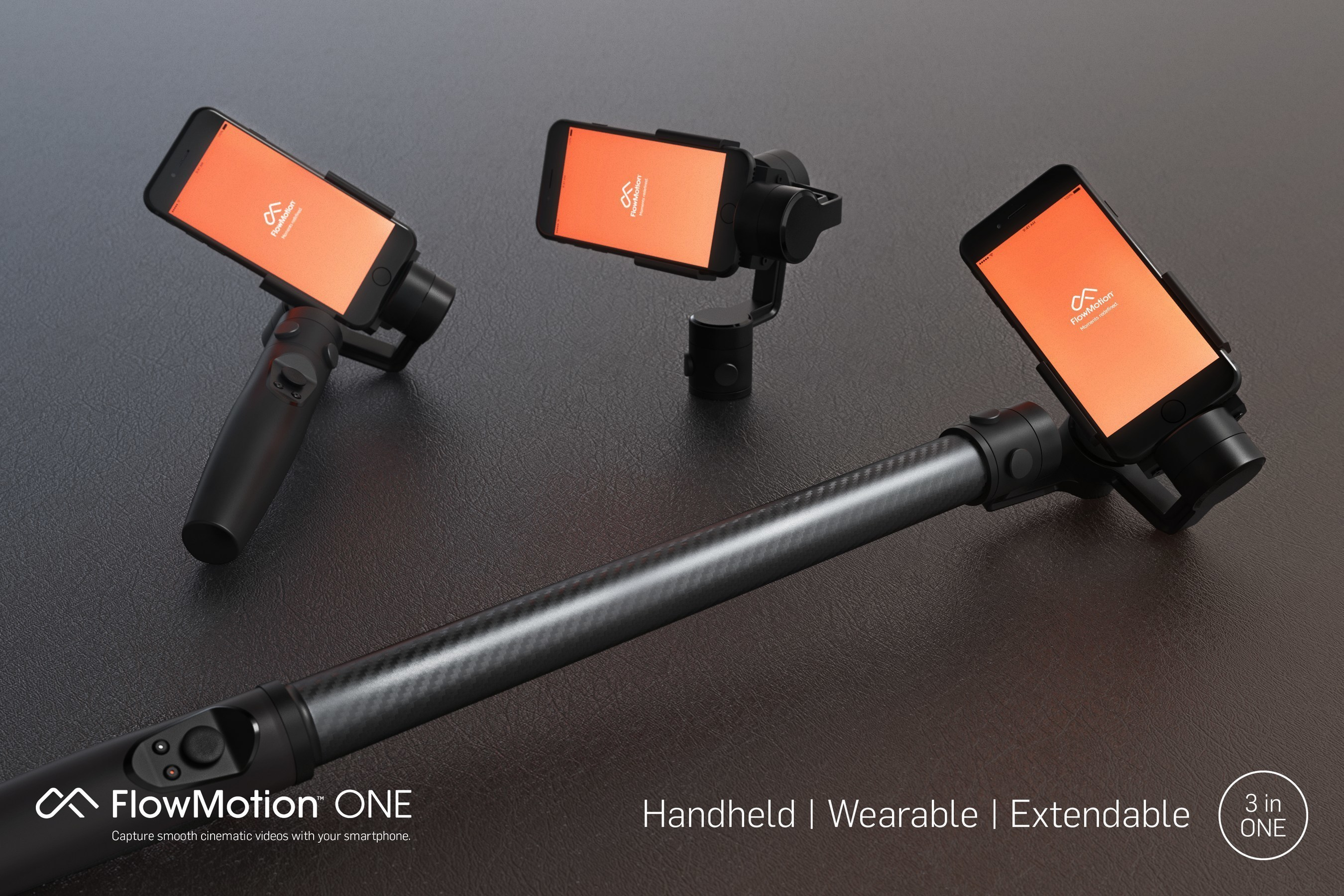 FlowMotion Launches First Wearable and Handheld Smartphone Stabilizer
