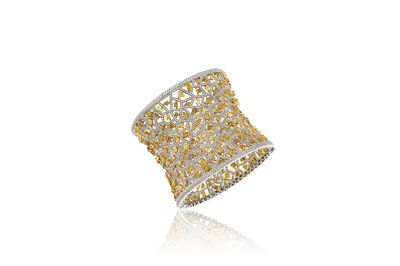 Diamond cuff bracelet with over 40ct of diamond worn by Paris Hilton