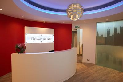 Delta Arrivals Lounge Reception Area